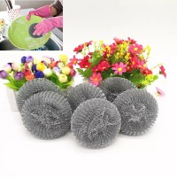 12 Pcs Stainless Steel Wire Dish Pot Cleaning Scourer - Silver