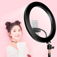 Portable Led Ring Fill Selfie Flash Light With Phone Holder - Without Stand