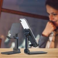Adjustable Folding Desktop Phone Tablet Ipad Stand Holder - Black