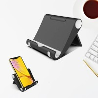 Universal Stents Desk Holder For Tablet Mobile Phone - Black