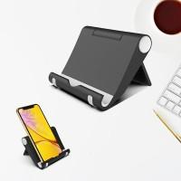 Universal Stents Desk Holder For Tablet Mobile Phone - Black