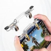 New High Quality Pubg Hock Mobile Gaming Triggers - White