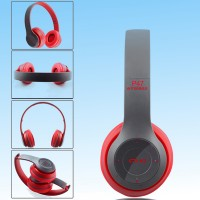 Wireless Bluetooth Foldable Headset With Microphone - Red