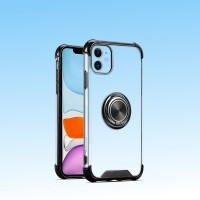 New Design Case Cover With Ring Holder For Iphone 11 Pro - Black