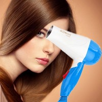 Mini Foldable Hair Dryer With Hot And Cold Wind - Blue