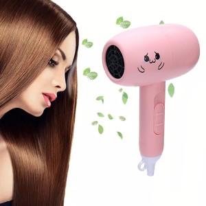 High Quality Mini Foldable Hair Dryer - Pink