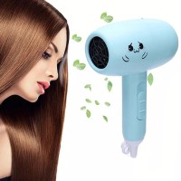 High Quality Mini Foldable Hair Dryer - Light Blue