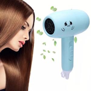 High Quality Mini Foldable Hair Dryer - Light Blue