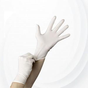 100 Pcs Latex Examination Rubber Small Gloves - White