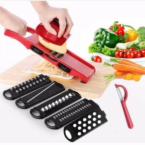 Multifunctional Vegetable Shredding Planer Slicer - Red