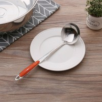 Heavy Duty Large Size Long Handle Stainless Steel Kitchen Spoon - Silver
