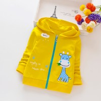 Girls' cartoon Embroidered Fashion Jacket - Yellow