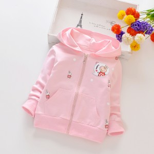 Long Sleeves Girls' Cartoon Printting Casual Jacket - Light Pink
