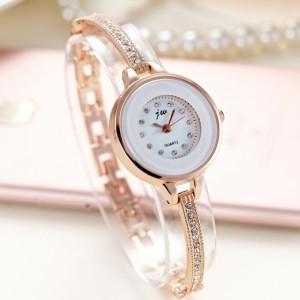 Women's Steel Band Bracelet Quartz Watch - Golden
