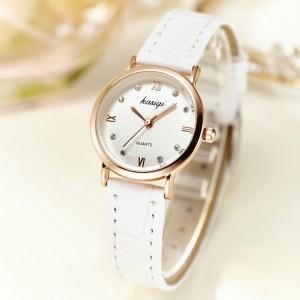 Women Casual Belt Fashion Watch - White