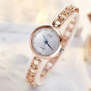 Women's Round Disc Quartz Watch - Golden