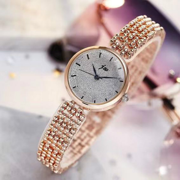 Girls Rhinestone Chain Quartz Watch - Golden
