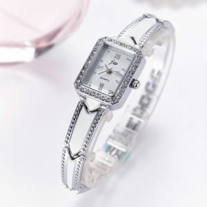 Women's Square Dial Fashion Chain Watch - Silver