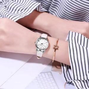Women Cute Wild Fashion Electronic Watch - White