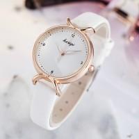 Girl Fashion Wild Quartz Watch WIth Belt - White