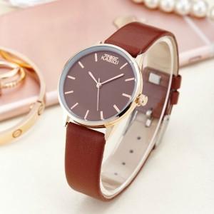 Ladies Ultra-thin Casual Electronic Watch - Coffee