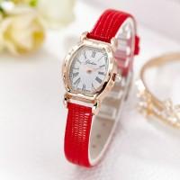 Trendy Vintage Ladies Belt Watch - Red
