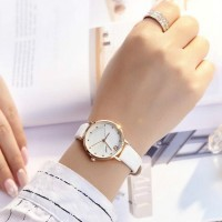 Ladies Personality Trend Electronic Quartz Watch - White