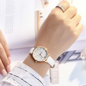 Ladies Personality Trend Electronic Quartz Watch - White