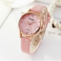 Women's Round Spherical Quartz Watch - Pink