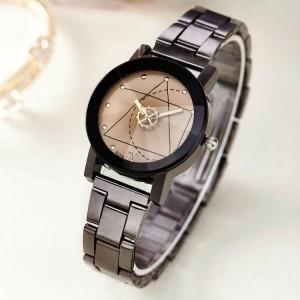 Women's Personality Turntable Steel Strap Quartz Watch - Black