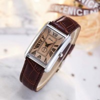 Women's Belt Square Casual Quartz Fashion Watch - Coffee