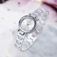 Ladies Student Bracelet Electronic Fashion Quartz Watch - Silver