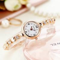 Women Thin Steel Band Lady Quartz Fashion Watch - Golden