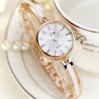 Women Quartz Bangle Student Lady Bracelet Watch - Golden