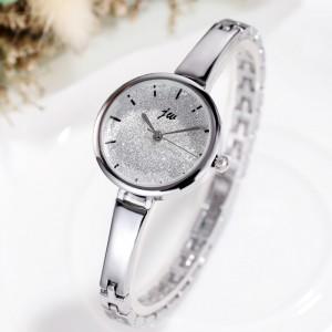 Women Steel Band Bracelet Fashion Electronic Watch - Silver