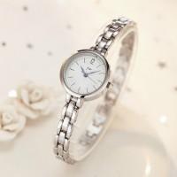 Women's Simple Steel Quartz Watch with Steel Bracelet - Silver