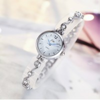Women's Small Dial Electronic British Fashion Watch - Silver