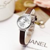 Ladies Thin Belt Fashion Quartz Watch - Coffee