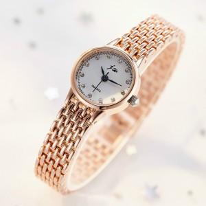 Girls Fashion Steel Bracelet Watch - Golden