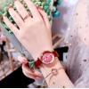 Ladies Fashion Wild Belt Casual Quartz Watch - Red