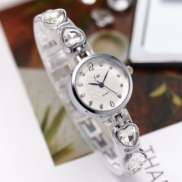Ladies Water Diamond Fashion Watch - Silver