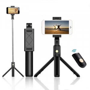 K07 Monopod Tripod Shutter  Selfie Stick With  Bluetooth Remote