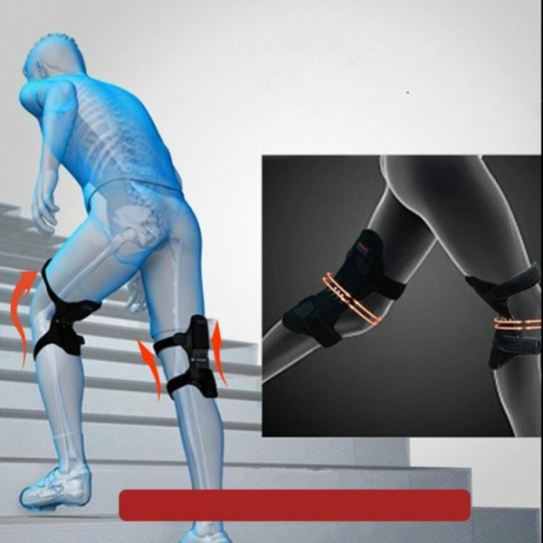 Joint Support Powerful Rebound Knee Booster - Black