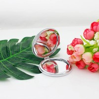 Foldable Mini Round Shape Pocket Makeup Mirror - Multi Color