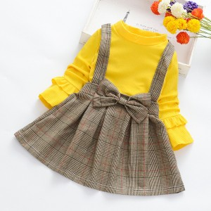 Kids Casual Wear New collection Dress  - Yellow