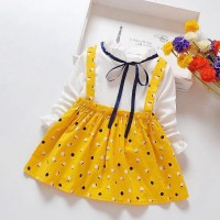 Little Girls Cute Sweet Casual Dress - Yellow