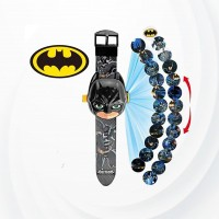 Children's Toy Cartoon Projection Electronic Watch - Black