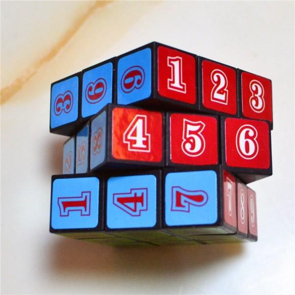 1 Pcs Kids Puzzles Mathematics Magic Cube - Multi Color