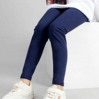 Girls Pants High Stretch Casual Leggings - Blue