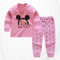 Kids Cartoon Pajama Set - Pink